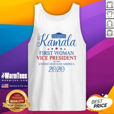 Beautiful Kamala Harris First Woman USA Vice President 2020 Victory Tank Top - Design By Warmtees.com