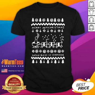 Beautiful Merry Antichristmas Satan Bless Us Everyone Hugleikur Dagsson Shirt - Design By Warmtees.com