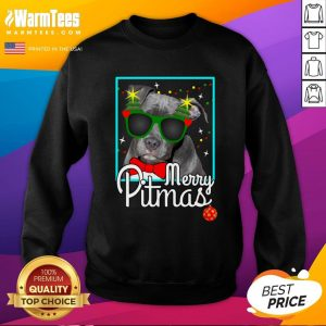 Cool Pitbull Merry Pitmas Sweatshirt - Design By Thelasttees.com