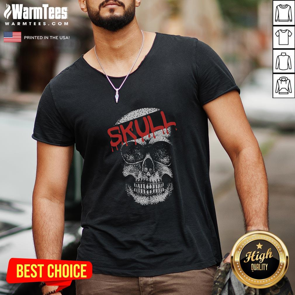 Cute I Would Like Skull V-neck - Design By Thelasttees.com