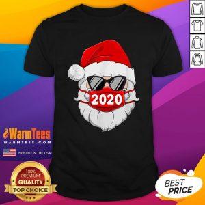 Cute Santa Claus Face Mask Glasses 2020 Shirt - Design By Warmtees.com