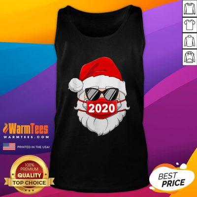 Cute Santa Claus Face Mask Glasses 2020 Tank Top - Design By Warmtees.com