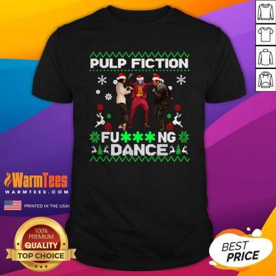 Fantastic Joker Dance With Mia Wallace Vincent Vega Pulp Fiction Christmas Shirt - Design By Warmtees.com