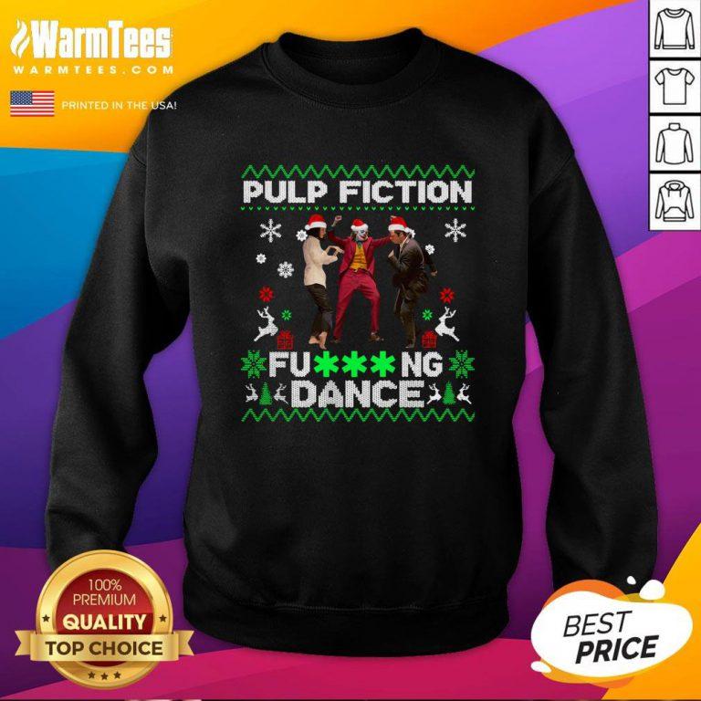 Fantastic Joker Dance With Mia Wallace Vincent Vega Pulp Fiction Christmas Sweatshirt - Design By Warmtees.com