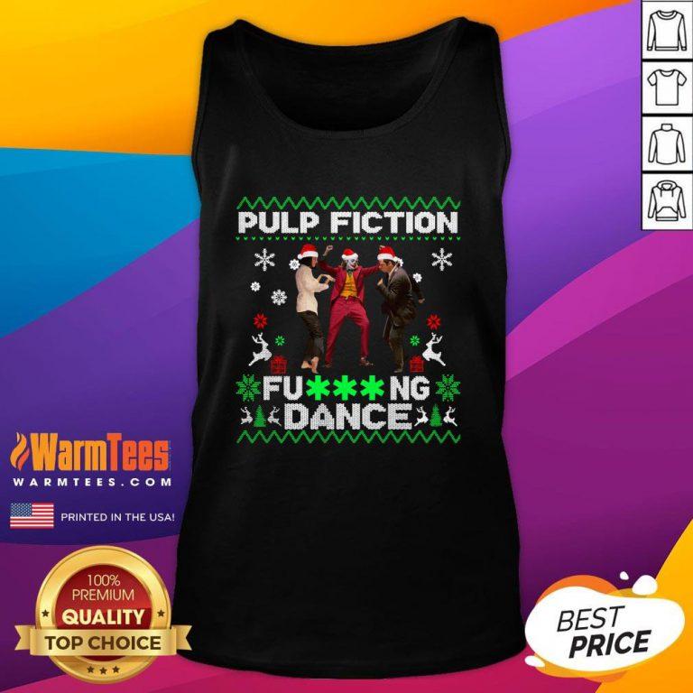 Fantastic Joker Dance With Mia Wallace Vincent Vega Pulp Fiction Christmas Tank Top - Design By Warmtees.com
