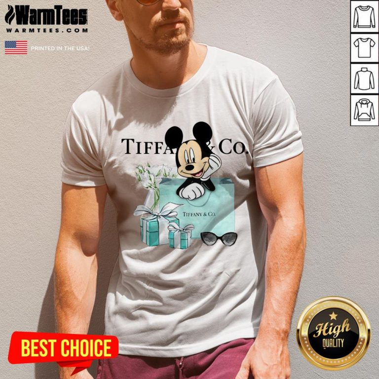 Fantastic Mickey Mouse Tiffany And Co V-neck - Design By Warmtees.com