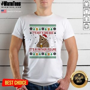 Fantastic Santa Bear Drink Beer Its Not A Bad Boy Its A Father Figure Ugly Christmas Shirt - Design By Warmtees.com