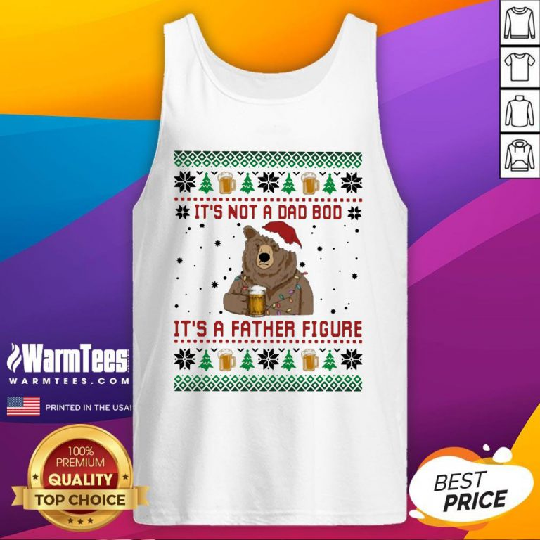 Fantastic Santa Bear Drink Beer Its Not A Bad Boy Its A Father Figure Ugly Christmas Tank Top - Design By Warmtees.com