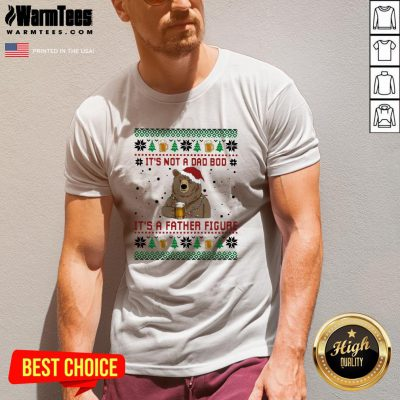Fantastic Santa Bear Drink Beer Its Not A Bad Boy Its A Father Figure Ugly Christmas V-neck - Design By Warmtees.com