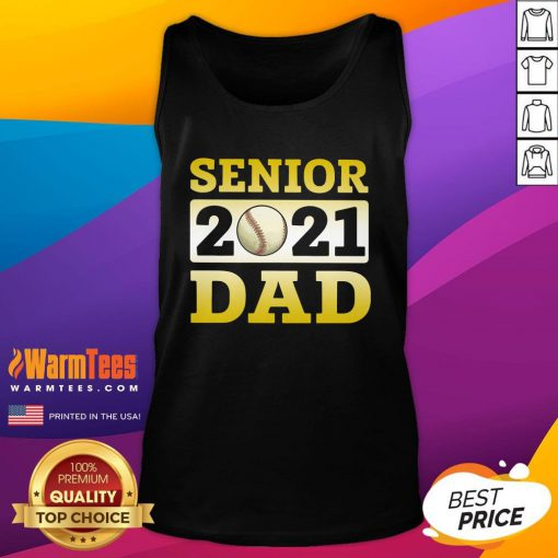 Funny Baseball Dad Senior 2021 Tank Top - Design By Warmtees.com