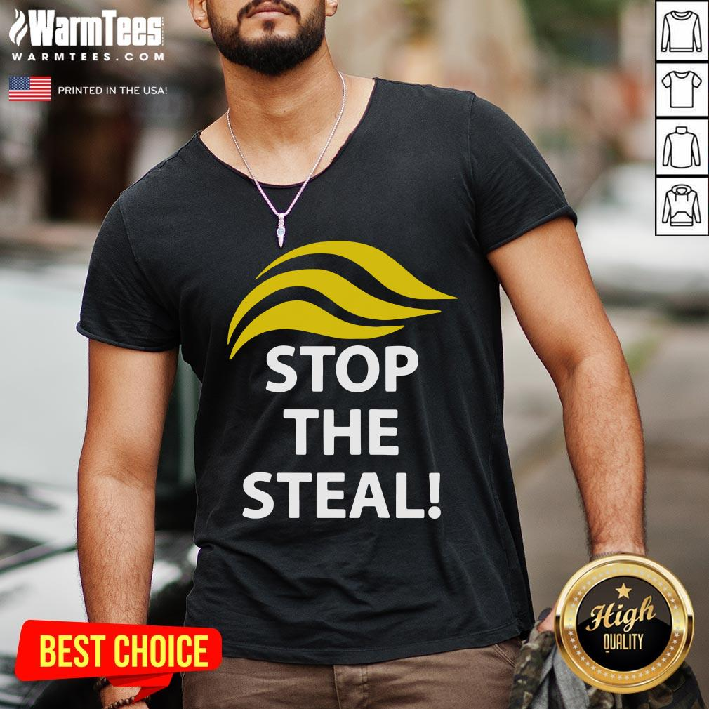 Funny Donald Trump Stop The Steal V-neck - Design By Warmtees.com