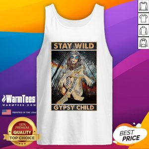 Funny Girl Stay Wild Gypsy Child Vertical Poster Tank Top - Design By Warmtees.com