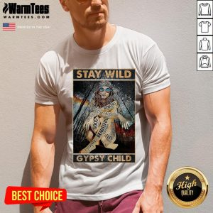 Funny Girl Stay Wild Gypsy Child Vertical Poster V-neck - Design By Warmtees.com