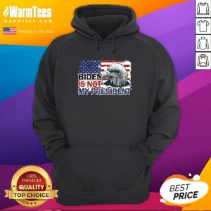 Funny Joe Biden Is Not My President Flag Usa Election Vintage Hoodie - Design By Warmtees.com