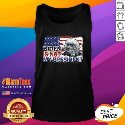 Funny Joe Biden Is Not My President Flag Usa Election Vintage Tank Top - Design By Warmtees.com