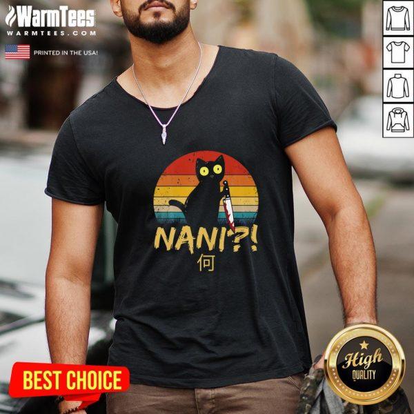 Good Black Cat Nani Vintage V-neck - Design By Warmtees.com