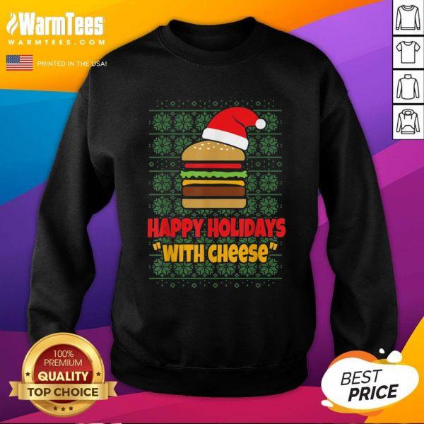 Good Holidays With Cheese Santa Burger Sweatshirt - Design By Warmtees.com