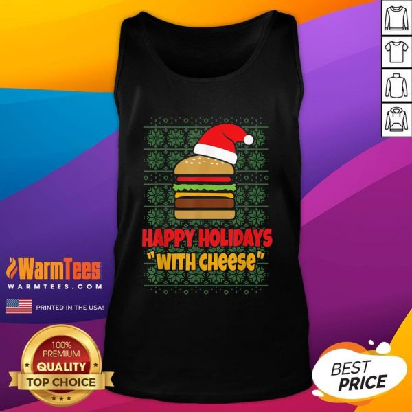 Good Holidays With Cheese Santa Burger Tank Top - Design By Warmtees.com