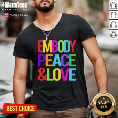 Good Youth Embody Peace And Love V-neck - Design By Warmtees.com