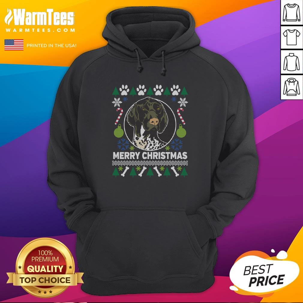 Great German Shorthaired Pointer Ugly Christmas Hoodie - Design By Warmtees.com