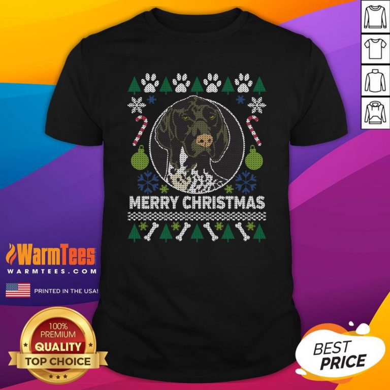 Great German Shorthaired Pointer Ugly Christmas Shirt - Design By Warmtees.com