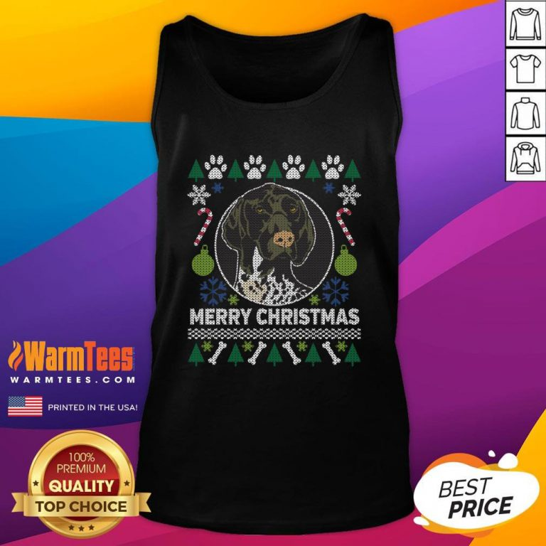 Great German Shorthaired Pointer Ugly Christmas Tank Top - Design By Warmtees.com