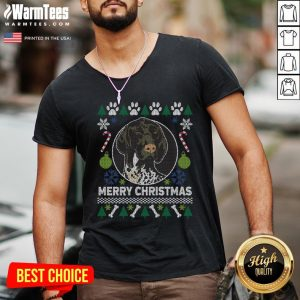 Great German Shorthaired Pointer Ugly Christmas V-neck - Design By Warmtees.com