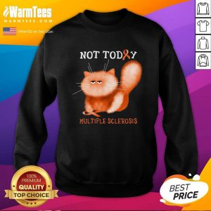 Great Not Today Multiple Sclerosis Cat Sweatshirt - Design By Thelasttees.com