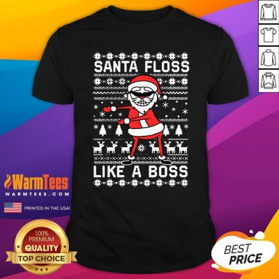 Great Santa Floss Like A Boss Ugly Christmas Shirt - Design By Warmtees.com