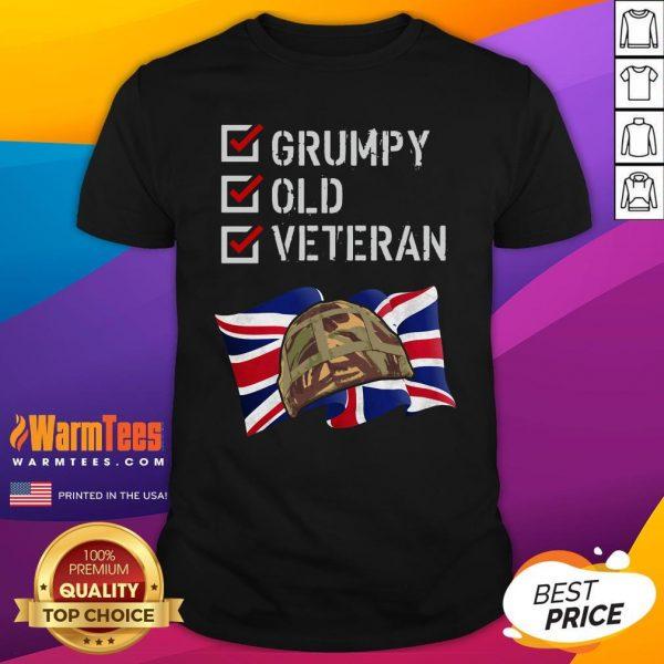 Happy Grumpy Old Veteran Shirt - Design By Warmtees.com