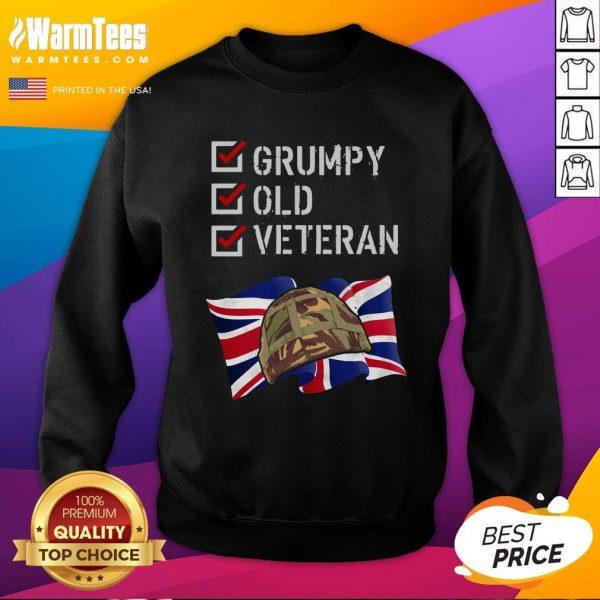 Happy Grumpy Old Veteran Sweatshirt - Design By Warmtees.com