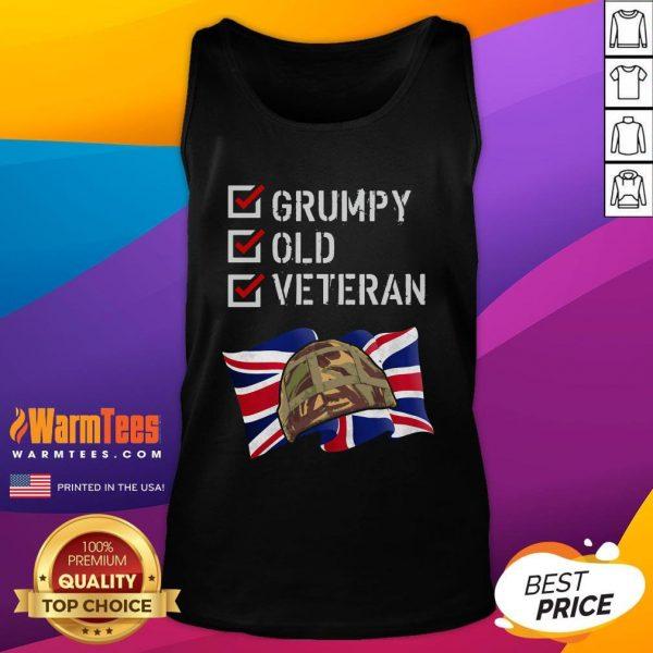 Happy Grumpy Old Veteran Tank Top - Design By Warmtees.com