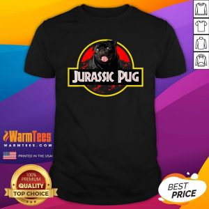 High Quality Jurassic Pug Shirt - Design By Thelasttees.com