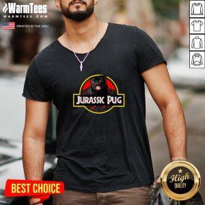 High Quality Jurassic Pug V-neck - Design By Thelasttees.com