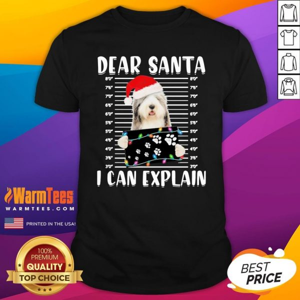 Hot Bearded Collie Dear Santa I Can Explain Christmas Sweater Shirt - Design By Warmtees.com