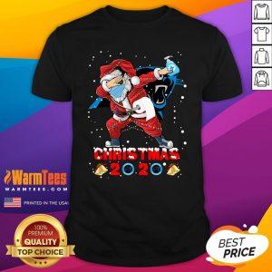 Hot Carolina Panthers Funny Santa Claus Dabbing Christmas 2020 Shirt - Design By Warmtees.com