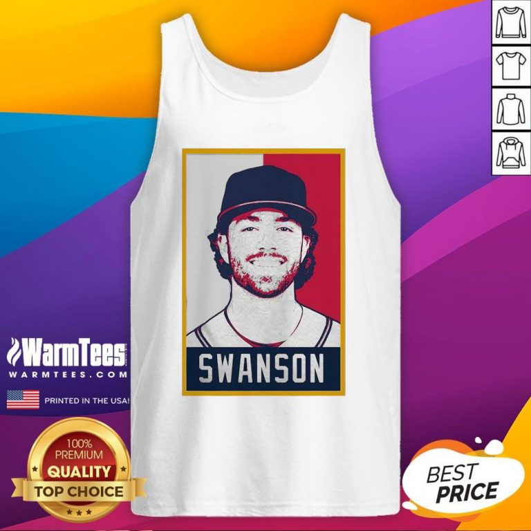 Hot Dansby Swanson Baseball Player Art Tank Top - Design By Warmtees.com