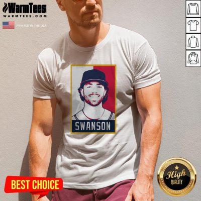 Hot Dansby Swanson Baseball Player Art V-neck - Design By Warmtees.com