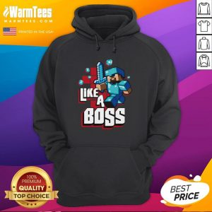 Hot JINX Minecraft Big Boys' Like A Boss Hoodie - Design By Warmtees.com