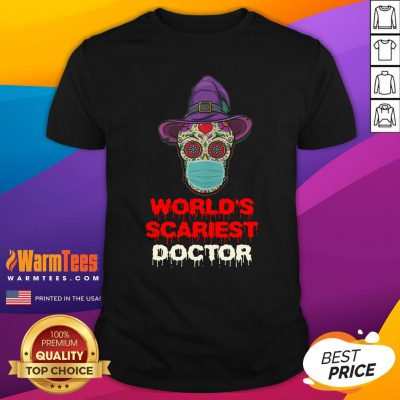 Hot World's Scariest Doctor Skull Tattoos Witch Face Mask Halloween Shirt - Design By Warmtees.com