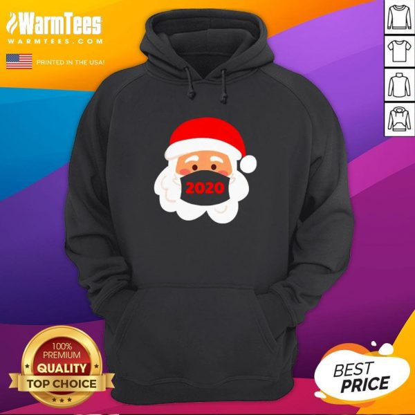 Lovely Santa Claus Face Mask Christmas 2020 Hoodie - Design By Warmtees.com