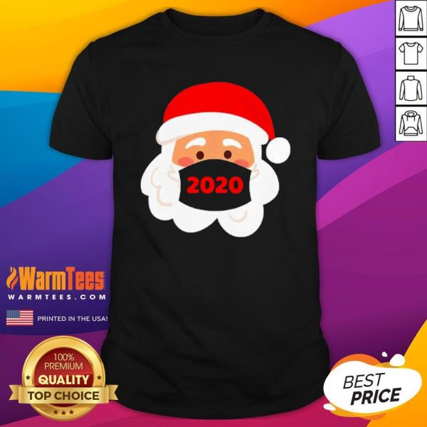 Lovely Santa Claus Face Mask Christmas 2020 Shirt - Design By Warmtees.com