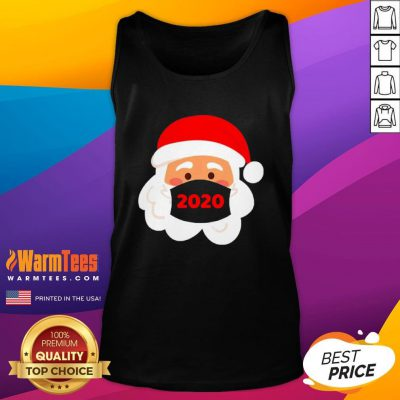 Lovely Santa Claus Face Mask Christmas 2020 Tank Top - Design By Warmtees.com