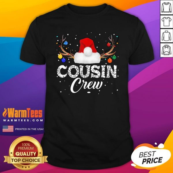 Nice I Love Santa Cousin Crew Shirt - Design By Thelasttees.com