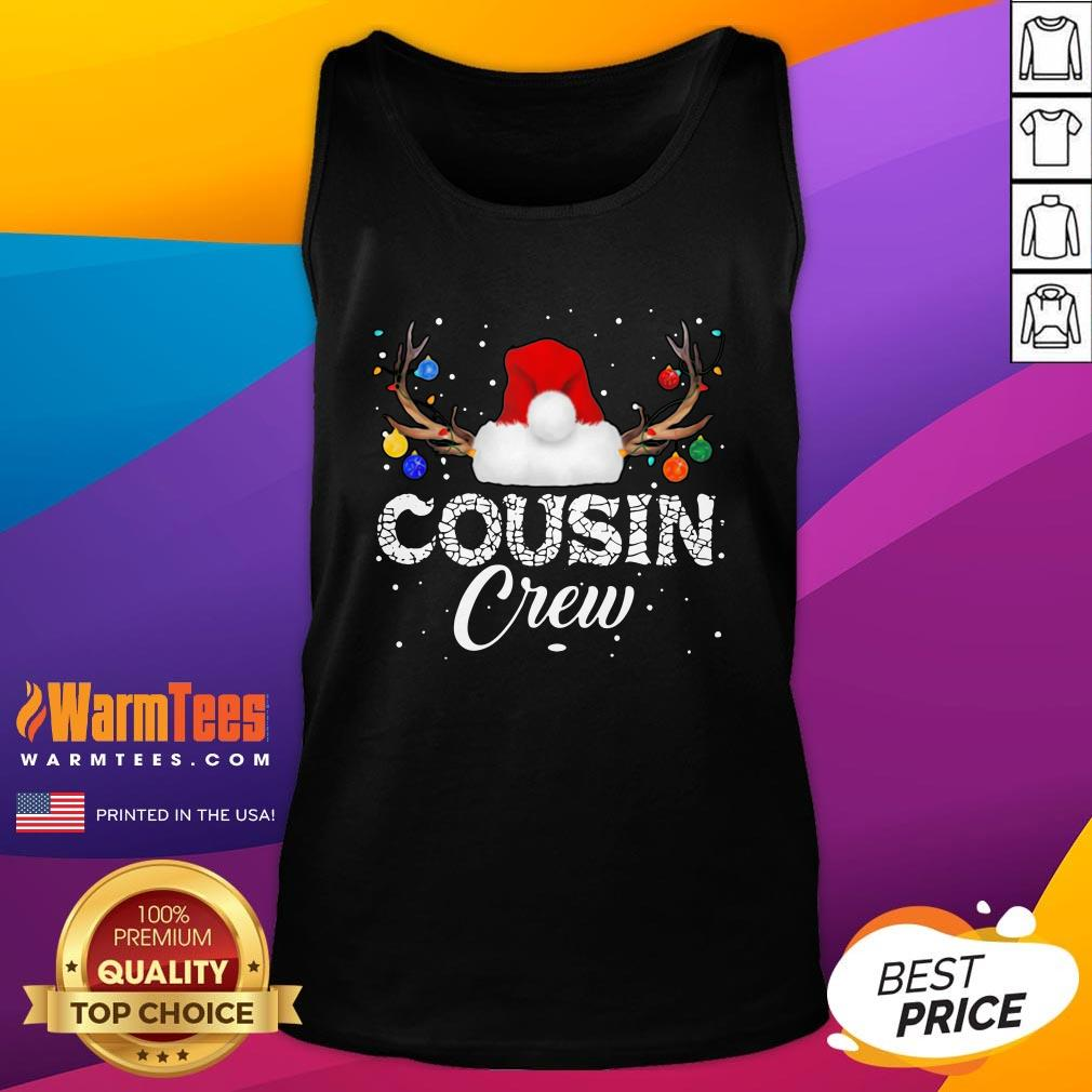 Nice I Love Santa Cousin Crew Tank Top - Design By Thelasttees.com