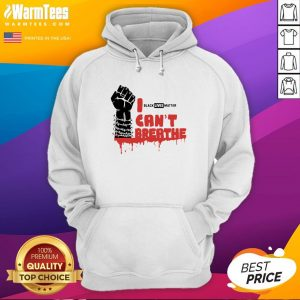 Official Black Lives Matter Cant Breathe Hoodie - Design By Warmtees.com