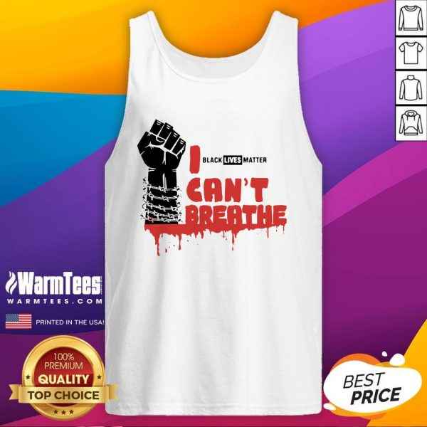 Official Black Lives Matter Cant Breathe Tank Top - Design By Warmtees.com