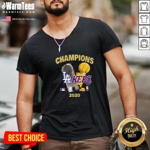 Official Champions Los Angeles Lakers Vs Los Angeles Dodgers 2020 V-neck - Design By Warmtees.com
