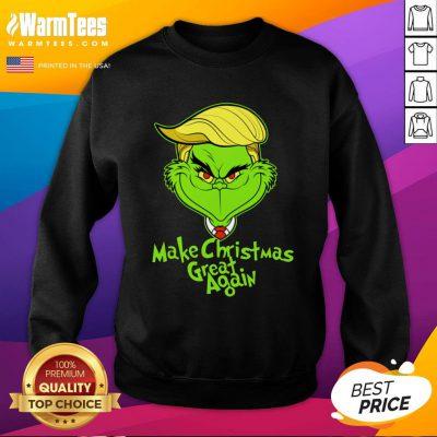 Official Grinch Trump Make Christmas Great Again Sweatshirt - Design By Warmtees.com
