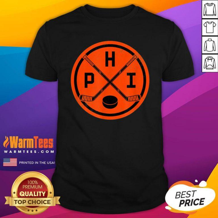 Official Philadelphia Ice Hockey Sticks Philly PHI Flyer Vintage Shirt - Design By Warmtees.com